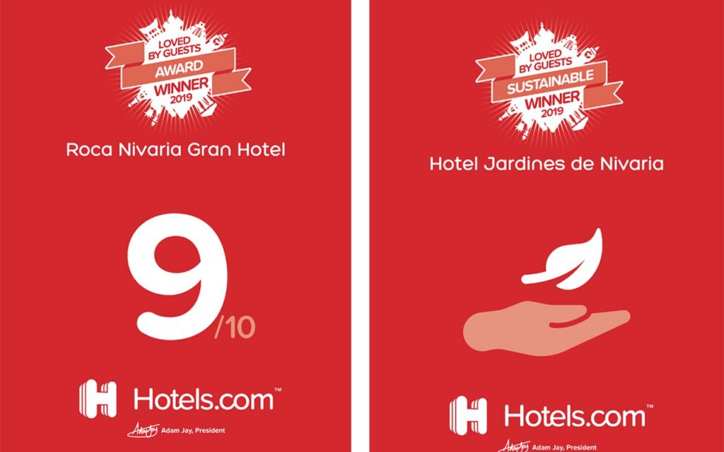 New Awards for Jardines de Nivaria and Roca Nivaria GH by Hotels.com